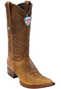 Men's Wild West Genuine Rage Leather Western Cowboy Boots Pointed Toe 3X