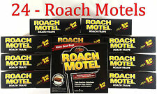24 Traps Black Flag Roach Motels Cockroach Killer bait Glue Trap Motel lot