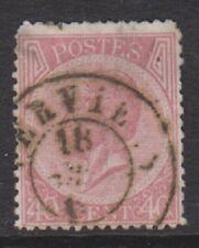 Belgium - 1866, 40c Carmine - Perf 14 1/2 x 14 - Used - SG 32