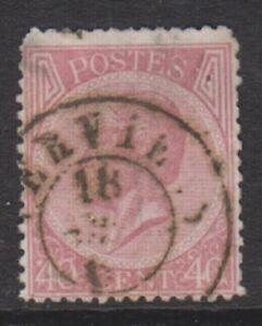 Belgium - 1866, 40c Carmine - Perf 14 1/2 x 14 - Used - SG 32 (c)