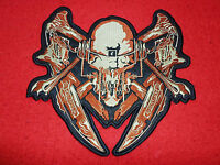 """Big Motley Crue Shout at the Devil Logo Embroidered Patch Feelgood Nikki Sixx11/"""""""