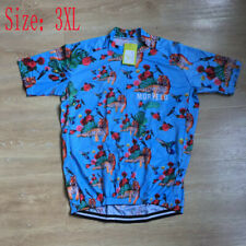 Mens Cycling Short Sleeve Jersey Bicycle Clothing Team Bike Shirt Sportswear 3Xl