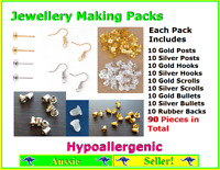Jewellery Making Pack Set Kit Butterfly Bullet Earring Hooks Backs FindingsPosts