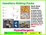 Jewellery Making Pack Set Kit Hypoallergenic Earring Hooks Backs Findings Posts