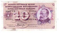 Svizzera  10 franchi  1968 BB  VF pick 45N firma 45 rif 2