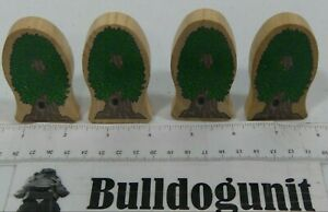 Kidkraft Lot 4 Wood Tree Figure Accessory Part Only Toy Thomas