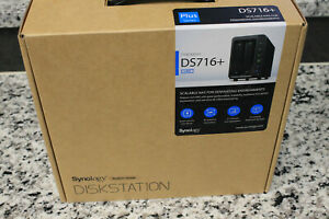 Open Box Synology 2 Bay NAS DiskStation DS716+ (Drives not included)