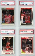 Michael Jordan Fleer Graded lot! 1987 PSA 7, 1988 PSA 9, 1989 PSA 9, 1990 PSA 9!