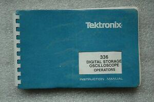 Tektronix 336 Original User Manual, Paper manual Parts# 070-4420-00