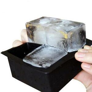 Silicone Ice Cube Square Black DIY Mould Large Mold Tray