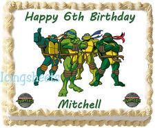 Teenage Mutant Ninja Turtles Edible Icing Cake top Party Topper birthday