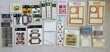 Scrapbooking Lot Making Memories Letter Stamps Embellishments Stickers and More