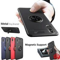 COVER per Iphone X XS Max XR TPU FINGER RING 360° con SUPPORTO MAGNETICO AUTO