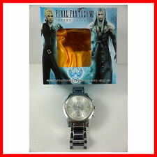 HOT Final Fantasy VII 7 FF7 Cloud Wolf Stainless Wrist Watch In Box + Badge