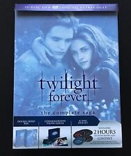 Twilight Forever: The Complete Saga DVD + UV Digital HD 12-Disc Set Like New!