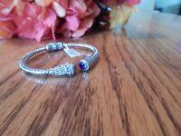 NEW Amethyst Hinged Cuff Bracelet 7.25