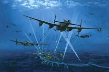 Avro Lancaster RAF Bomber Command Plane  Aircraft Airplane Painting Art Print