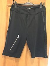 Women's Cora Kemperman Black Zip Unusual Shorts Size L Worn twice
