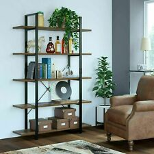 5-Tier Industrial Bookshelf Ladder Shelf Plant Display Rack Storage Shelving TOP