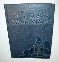 1954 Yearbook Mississippi College Clinton Mississippi Embossed CoverTribesman