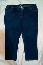 Jessica London Women's Relaxed Fit Blue Denim Stretch Jeans Size 24