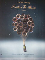 PUBLICITÉ DE PRESSE - CHAMPAGNE NICOLAS FEUILLATTE - ADVERTISING
