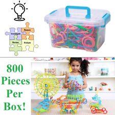 Plastic Building Sticks Educational DIY Assembly Toy Set Logic Training For Kids