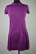 LACOSTE NWD WOMENS PURPLE BUTTON DOWN BACK POLO BRUME DRESS SZ 36 (US 4)
