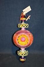 """Christopher Radko 10"""" Glass Ornament Razzle Dazzle 20th Anniversary 2004 Retired"""