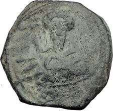 CRUSADERS of Antioch Tancred Ancient 1101AD Byzantine Time Coin CROSS i64466
