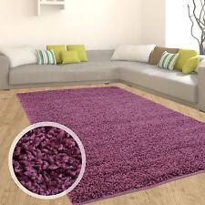 Hochflor Shaggy Teppich Langflor Wohnzimmer einfarbig / uni Neu Top Angebot