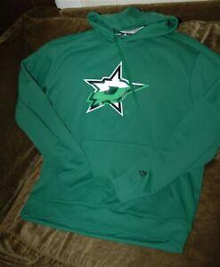Dallas Stars hoodie sweatshirt men's large Adidas Climawarm NHL performance gear
