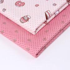 2PCS Cute Cotton Fabrics Patchwork Textile Sewing Pillow Bedding DIY Crafts New