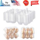 Hold 6 Eggs Securely 48 Pack Egg Cartons Clear Plastic Bulk Empty Chicken Egg
