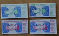 1987 Keep in touch 2x £1.30 and 2x £1.80 booklets