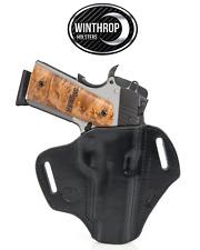 "1911 5"" No Lasergrips M1913 Picatinny Rail OWB Body Shield Holster R/H Black"