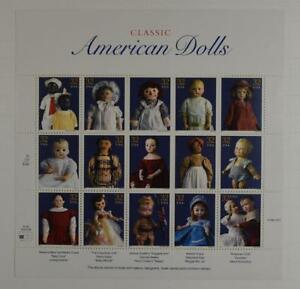 US SCOTT 3151 PANE OF 15 CLASSIC AMERICAN DOLLS 32 CENTS FACE MNH