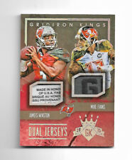 2015 Gridiron Kings Jameis Winston Rookie Laundry Tag and Mike Evans #1/1 RC