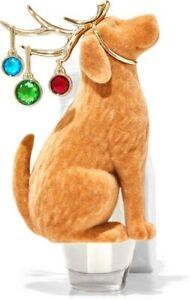 Bath & Body Works Wallflowers Fragrance Plug In Holiday Dog With Bulbs Antlers