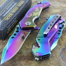 Tac-Force AO Titanium Rainbow Dragon Assist Rescue Glass Breaker Pocket Knife