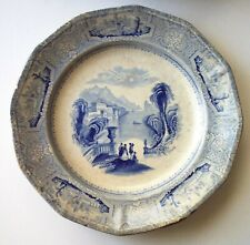 1848 J.WEDGWOOD Columbia Blue Transferware Ironstone Plate England 171 yrs old
