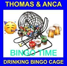 Bingo Cage machine drinking game shot glasses and balls Fun drinking game bingo