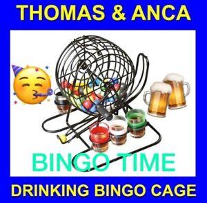 Bingo Cage machine drinking game shot glasses balls drinking game Fathers Day