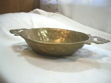 Schale Obstschale Messingschale oval Messing o. Bronze 2 Griffe