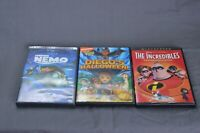 Diegos Halloween DVD Finding Nemo Tha Incredibles Lot of 3