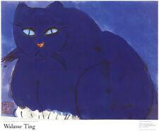 176959 Gato Azul asiática por Walasse Ting Original Decoración Laminado cartel UK