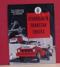 1958 Studebaker Transtar Trucks Sales Brochure - 1 1/2 and  2 Ton Models