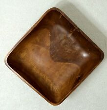 Vintage Hand Carved Wood Bowl Antique Art Decoration Mcm Old Home Wooden Burl 1