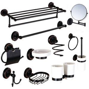 Oil Rubbed Bronze Black Bathroom Accessories Set Towel Bars Bath Hardware Set