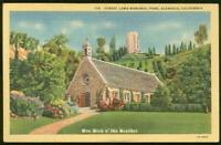 Forest Lawn Memorial Park California Church Kirk Lot of Two Vintage Postcards
